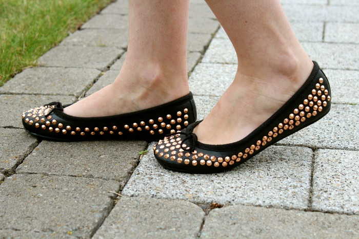 Topshop Spiked Flats