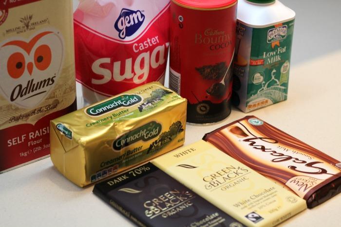 Triple Chocolate Cookies Ingredients