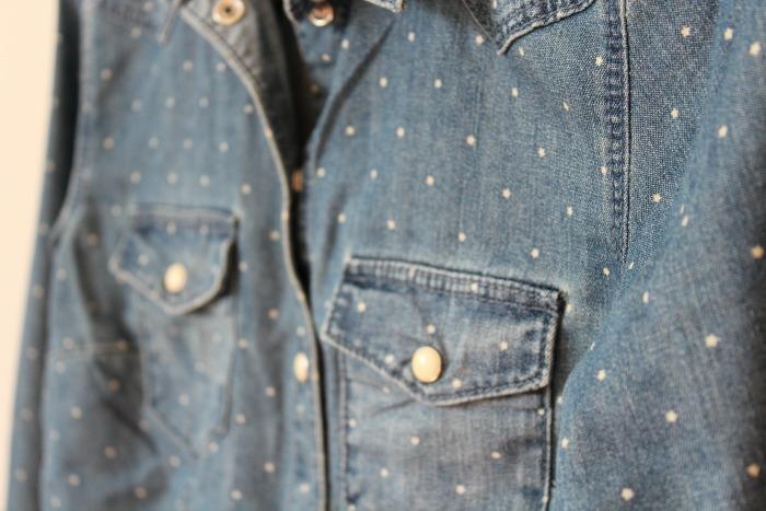 H&M Polka Dot Denim Shirt