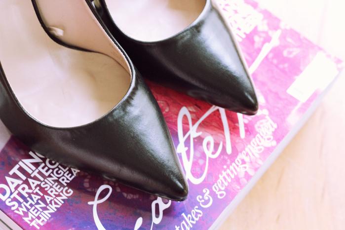 Zara Leather Black Pumps