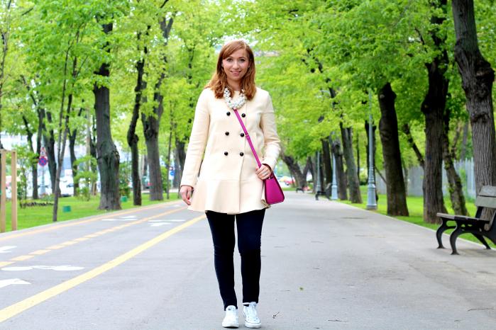 Zara Peplum Coat