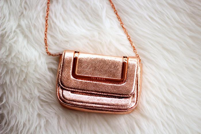 Ted Baker Rose Gold Chain Bag