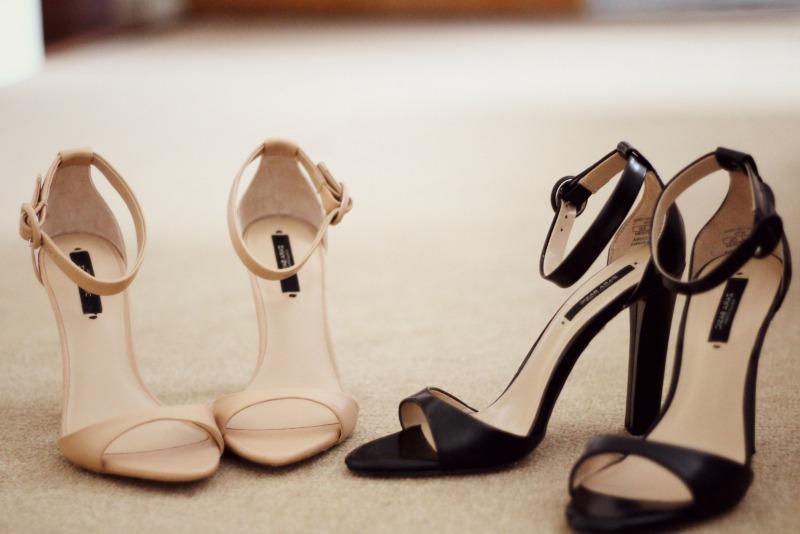 Zara Wide Heel Leather Sandals