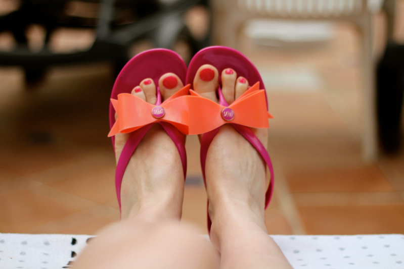 Ted Baker flip flops from Kildare Village.