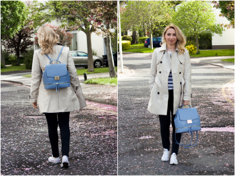 8435fae561b Spring Fashion Fix - The Perfect Trench Coat and Backpack.