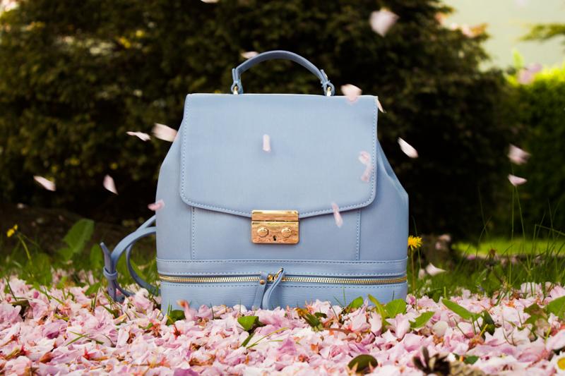 Zara Ladylike Blue Backpack