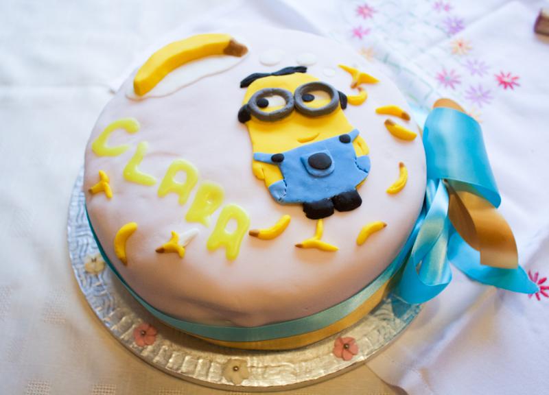 Minion Christening Cake