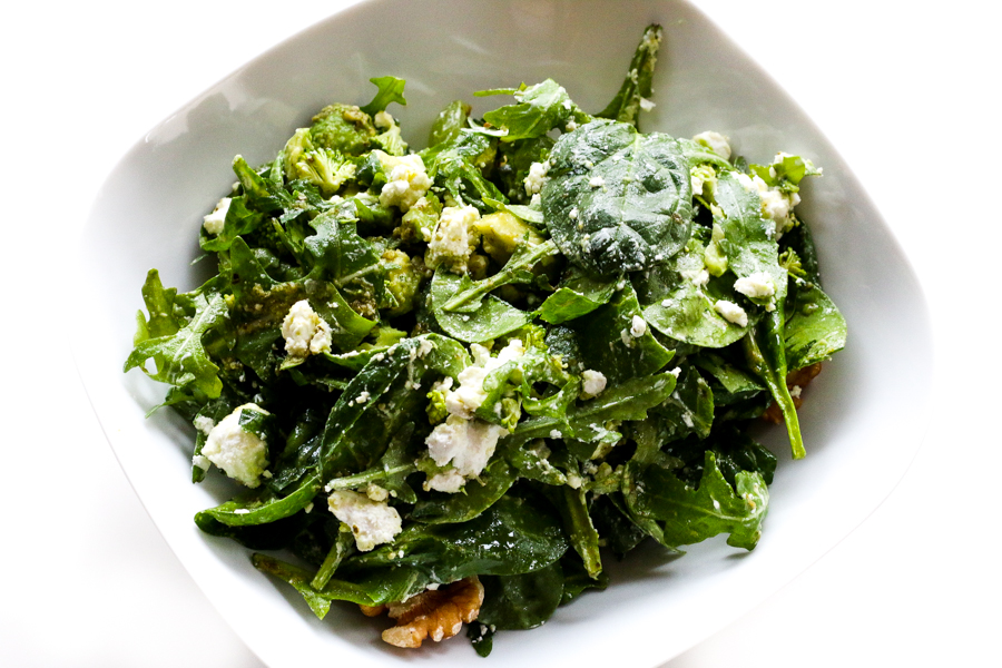 Goat Cheese Spinach Salad