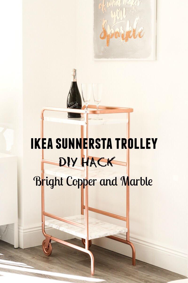 ikea sunnersta bar cart hack   diy   your beauty