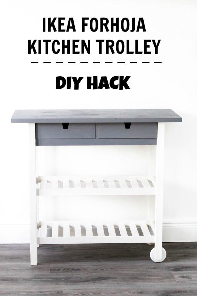 IKEA FORHOJA Kitchen Cart Hack | DIY