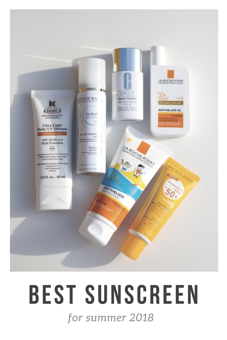 best sunscreen for summer 2018