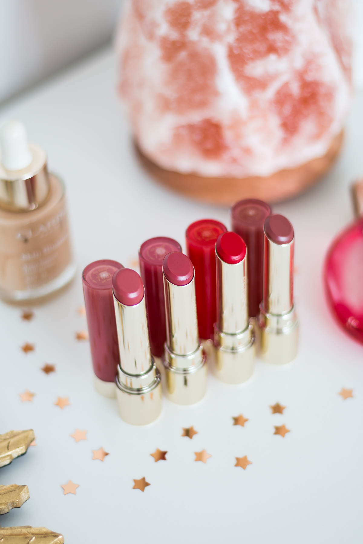 Clarins Joli Rouge Lip Lacquer Review and Swatches