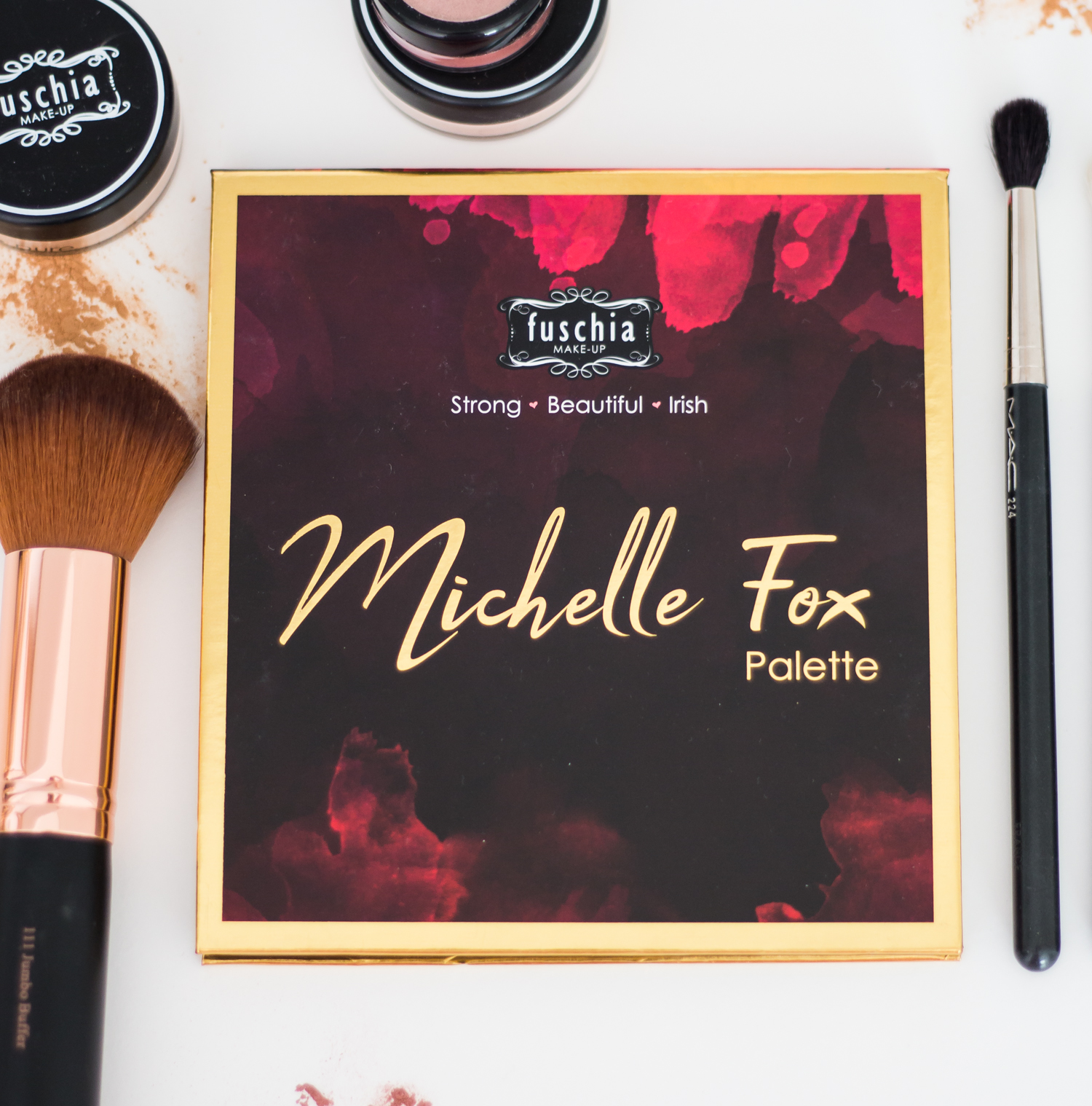 fuschia makeup x michelle fox palette