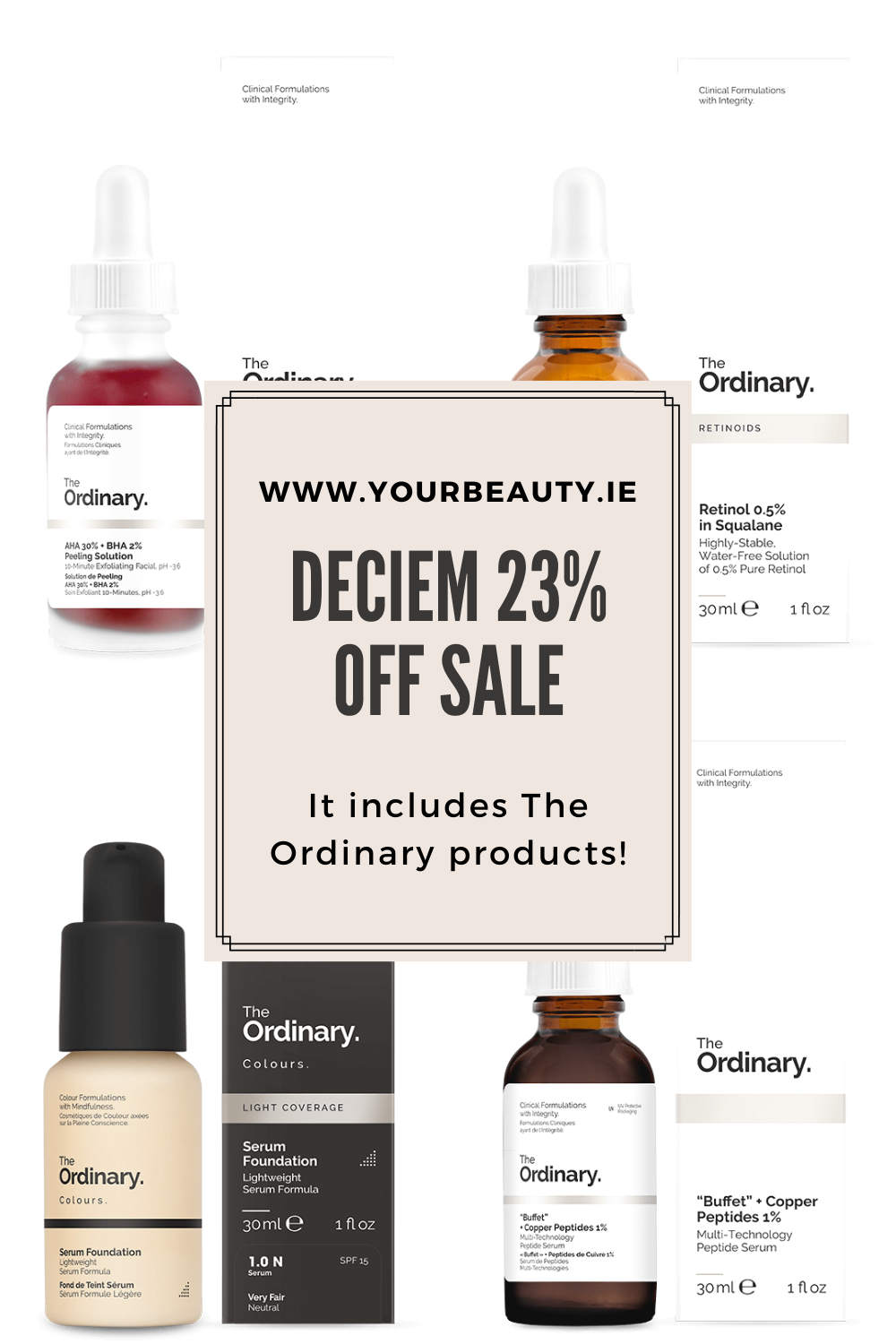 the Deciem 23% off Sale